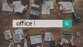Рабочее место офиса размещает штаб концепция места для работы здания Стоковое Фото