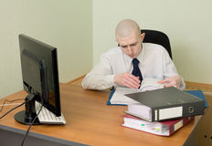 рабочее место офиса bookkeeper Стоковые Фото