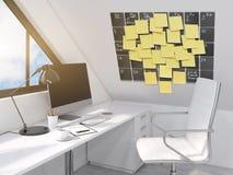 Рабочее место с календарем Стоковое Изображение