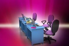 Рабочее место с компьютером Стоковая Фотография RF