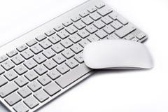 Рабочее место с клавиатурой и мышью Стоковые Изображения