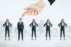Рабочее место таланта и концепция дискриминации стоковое фото rf