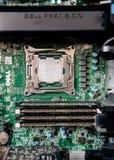 Рабочее место точности Dell с двойным C.P.U. стоковое изображение