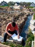 рабочий класс строительной площадки Стоковое фото RF