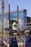 рабочий-строители здания Стоковое Фото