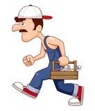 Рабочий-строитель с инструментами иллюстрация штока
