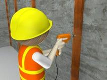 рабочий-строитель 3d Стоковые Фотографии RF