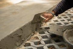 Рабочий-строители женщин Таиланда штукатурили Стоковое Изображение RF