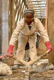 Рабочий-строитель железного каркаса Стоковые Изображения RF