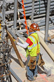 Рабочий-строитель, Нью-Йорк Стоковое фото RF