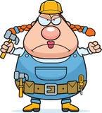 Рабочий-строитель сердитый Стоковые Изображения