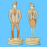 Равенство полов Стоковые Фото