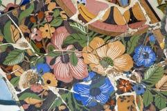 равенство gaudi детали керамики стенда стоковая фотография