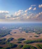 Равнина леса в лете, взгляд сверху Стоковое Изображение RF