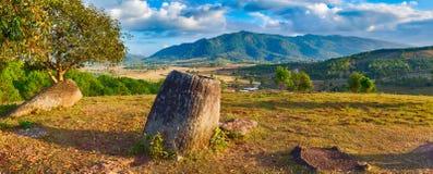 Равнина опарников Лаос Стоковая Фотография RF