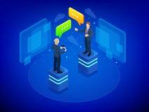 Равновеликая концепция деловых переговоров Процесс работы команды Встреча и метод мозгового штурма сыгранности руководства бизнес иллюстрация вектора