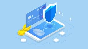 Равновеликая личная концепция знамени сети защиты данных Безопасность и уединение кибер Шифрование движения, VPN, уединение иллюстрация штока