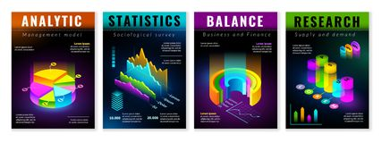 Равновеликие infographic плакаты бесплатная иллюстрация