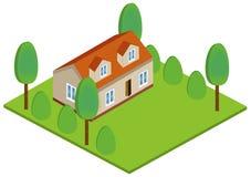 Равновеликий дом значка 3D иллюстрация штока