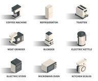 Равновеликий комплект значка сети 3D Стоковые Изображения