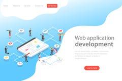 Равновеликий плоский шаблон страницы посадки вектора агенства веб-служб бесплатная иллюстрация