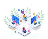 Равновеликий программист кодируя новый проект Навыки развития и программирования сети для вебсайта Иллюстрация знамени СЕТИ иллюстрация вектора