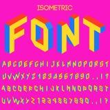 равновеликий шрифт вектора 3d Равновеликие письма, номера и символы Трехмерное оформление вектора запаса для заголовков, плакатов бесплатная иллюстрация