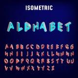 Равновеликий шрифт 3d характеры алфавита покрасили габаритное изображение 3 также вектор иллюстрации притяжки corel бесплатная иллюстрация