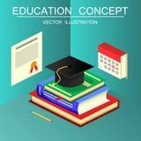 Равновеликая концепция образования и вектора градации 3d назад к sc Стоковые Фото