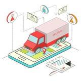 Равновеликая концепция онлайн поставки Стоковая Фотография RF