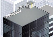 Равновеликая крыша небоскреба Стоковое Изображение