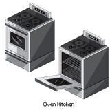 Равновеликая кухня печи Стоковое Изображение