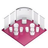 Равновеликая стойка будочки выставки Стоковая Фотография RF