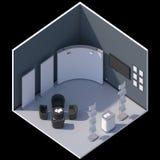 Равновеликая стойка будочки выставки Стоковое Изображение RF