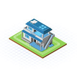 Равновеликая террасная иллюстрация вектора дома Стоковые Изображения