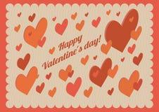 Равновеликие сердца вектора Открытка дня Valentine Стоковые Фотографии RF