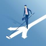 Равновеликий бизнесмен и выбор иллюстрация вектора