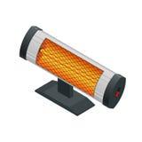 Равновеликий галоид или ультракрасный подогреватель Значки приборов отопления домов бытовые приборы бесплатная иллюстрация