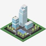 Равновеликий город дела мегаполиса иллюстрация вектора