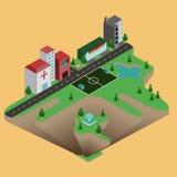 Равновеликий городок иллюстрация вектора