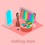Равновеликий интерьер магазина одежды Стоковое Фото