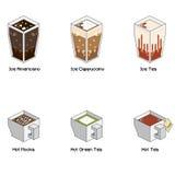 Равновеликий комплект кофе b Стоковое Изображение