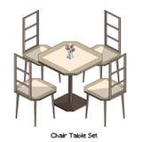Равновеликий комплект таблицы стула Стоковая Фотография RF