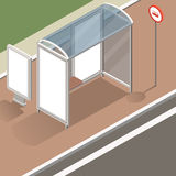 Равновеликий модель-макет автобусной остановки Бесплатная Иллюстрация