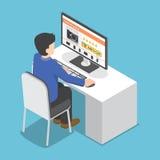 Равновеликий ПК пользы бизнесмена к ходить по магазинам онлайн бесплатная иллюстрация