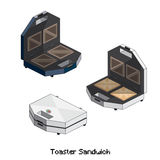 Равновеликий сандвич тостера Стоковые Фотографии RF