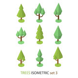Равновеликое дерево вектора установило 3 Стоковое Изображение
