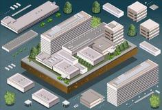 Равновеликое здание иллюстрация вектора