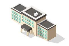 Равновеликое школьное здание Стоковые Изображения RF