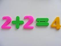 равные 4 плюс 2 Стоковая Фотография RF